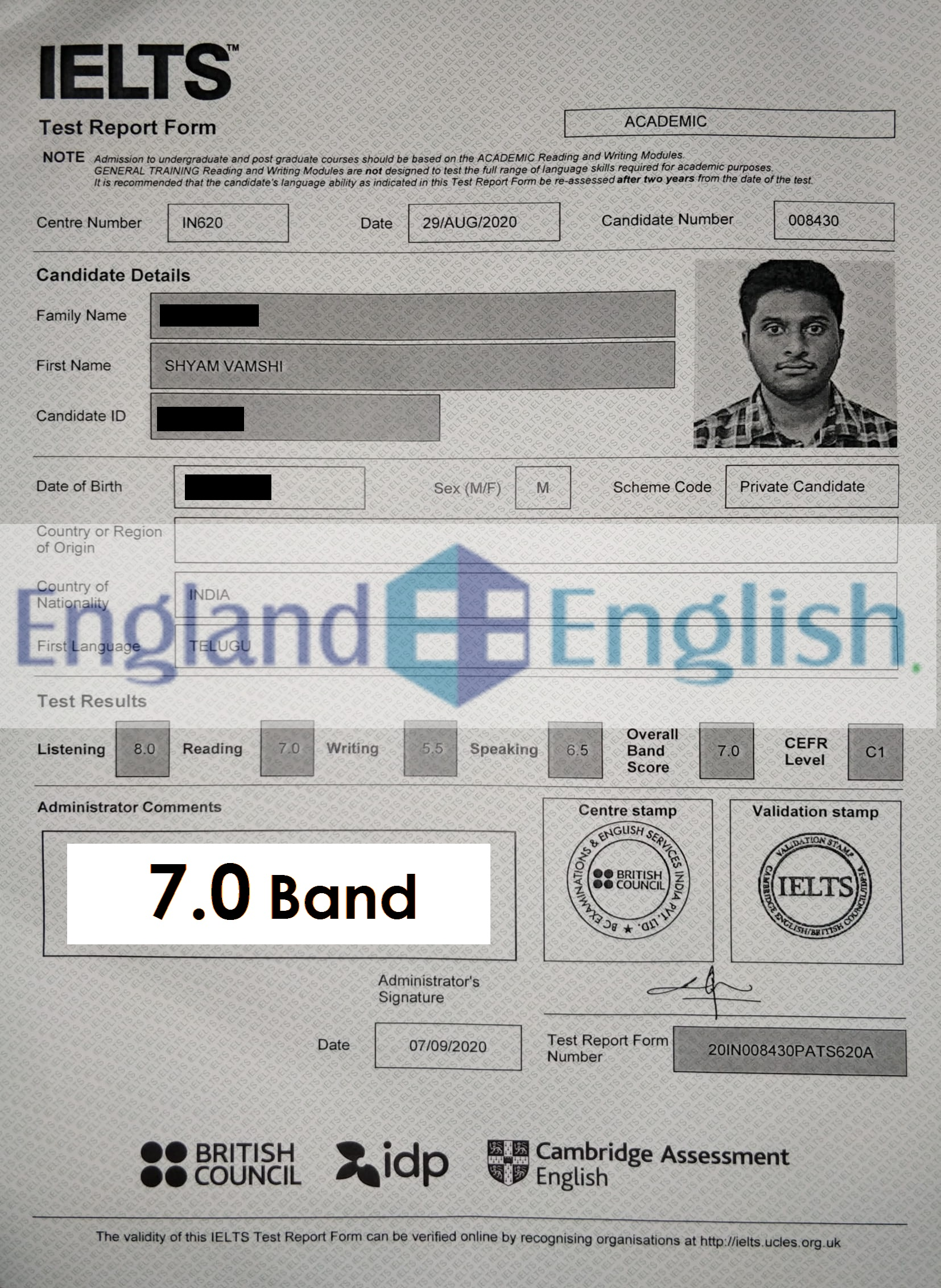 Best IELTS coaching center in Hyderabad, England English.