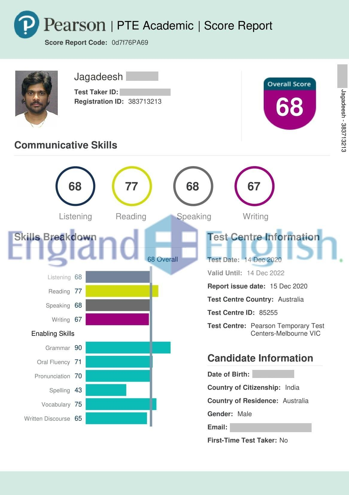Best PTE coaching center in Hyderabad, England English.