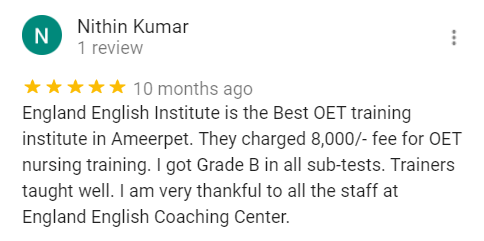OET Coaching center in Ameerpet, Hyderabad