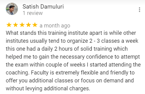 Sathish Review for the Best NAATI Telugu Coaching institute in Hyderabad.
